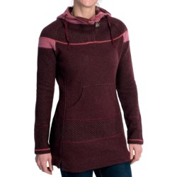 prAna Caitlyn Tunic Sweater - Hooded, Wool Blend (For Women) in Pomegranate