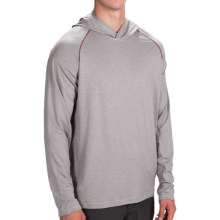 prAna Calder Hoodie Shirt - UPF 50+, Long Sleeve (For Men) in Light Grey - Closeouts