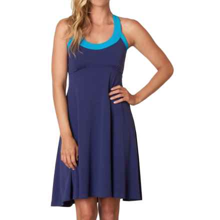 prAna Cali Dress - Built-in Bra, Sleeveless (For Women) in Indigo - Closeouts