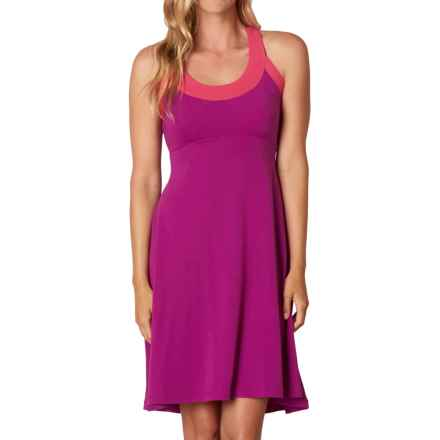 prAna Cali Dress - Built-in Bra, Sleeveless (For Women) in Rich Fuchsia - Closeouts