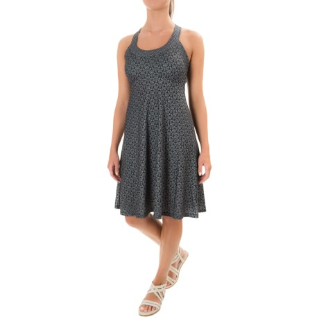 prAna Cali Tank Dress - Built-In Shelf Bra (For Women) in Charcoal Botanica