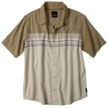 prAna Camino Shirt - Short Sleeve (For Men) in Desert - Closeouts