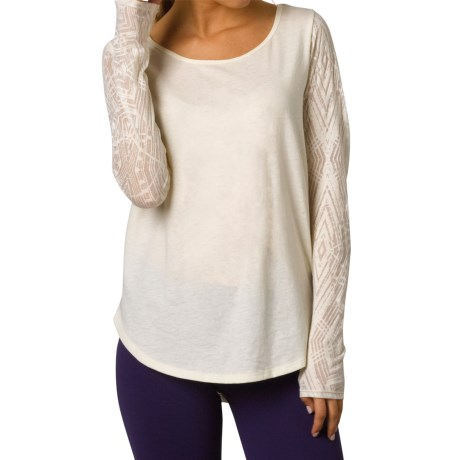 prAna Candi Burnout Shirt Organic Cotton, Long Sleeve (For Women)
