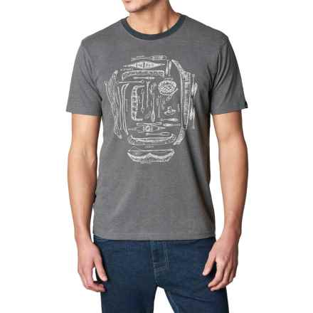 prAna Canoe'N Ringer T-Shirt - Organic Cotton, Short Sleeve (For Men) in Charcoal - Closeouts