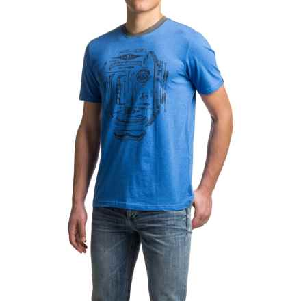 prAna Canoe'N Ringer T-Shirt - Organic Cotton, Short Sleeve (For Men) in Classic Blue - Closeouts