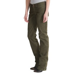 prAna Canyon Cord Pants - Stretch Cotton (For Women) in Cargo Green