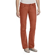 prAna Canyon Stretch Cotton Corduroy Pants - 5-Pocket (For Women) in Rust - Closeouts