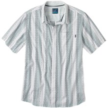 prAna Carillo Shirt - Organic Cotton, Short Sleeve (For Men) in Blue - Closeouts
