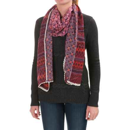 prAna Carmen Scarf (For Women) in Sunlit Coral - Closeouts