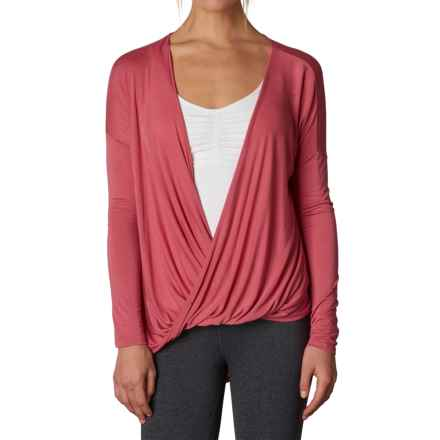 prAna Cascade Shirt - Long Sleeve (For Women) in Red Slate - Closeouts