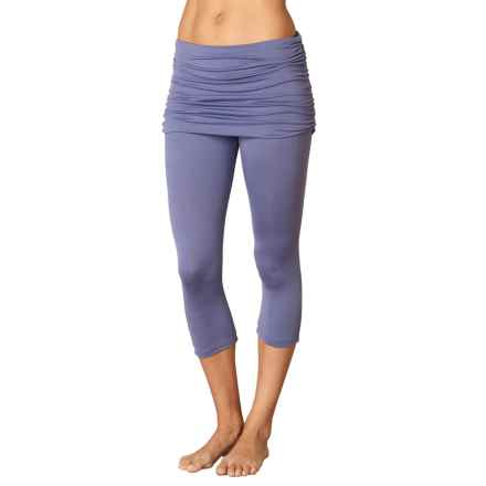 prAna Cassidy Capris - Attached Skirt (For Women) in Purple Fog - Closeouts