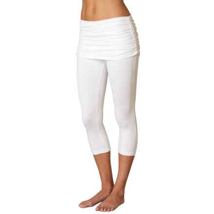 prAna Cassidy Capris - Attached Skirt (For Women) in White - Closeouts