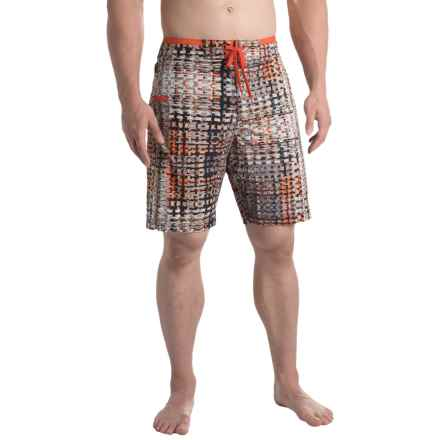 prAna Catalyst Boardshorts - UPF 50+ (For Men) in Gravel Ripple - Closeouts