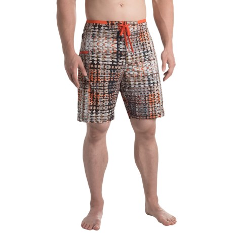 prAna Catalyst Boardshorts - UPF 50+ (For Men) in Gravel Ripple