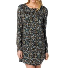 prAna Cece Dress - Long Sleeve (For Women) in Deep Teal - Closeouts