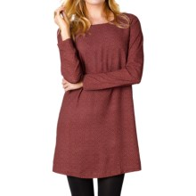 prAna Cece Dress - Long Sleeve (For Women) in Pomegranate - Closeouts