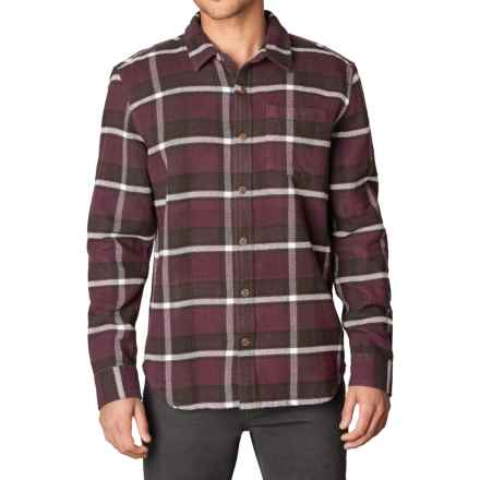 prAna Channing Flannel Shirt - Organic Cotton, Long Sleeve (For Men) in Eggplant - Closeouts