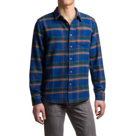 prAna Channing Flannel Shirt - Organic Cotton, Long Sleeve (For Men) in Nautical - Closeouts