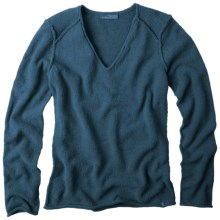 prAna Chenille Sweater - V-Neck, Long Sleeve (For Women) in Blue Spruce - Closeouts