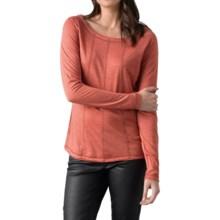 prAna Chrissa Shirt - Wool Blend, Long Sleeve (For Women) in Rhubarb - Closeouts