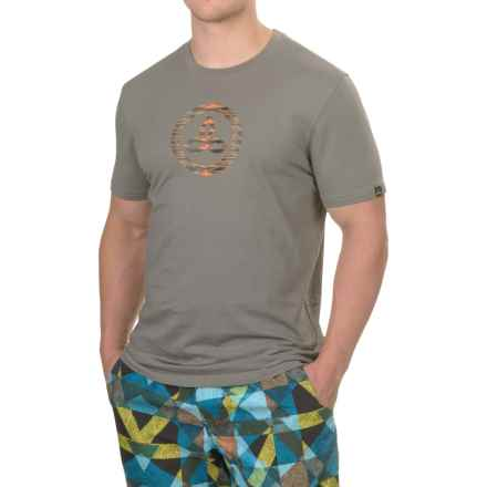 prAna Classic T-Shirt - Organic Cotton, Short Sleeve (For Men) in Gravel - Closeouts