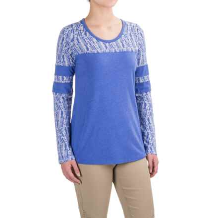 prAna Cleo Shirt - Long Sleeve (For Women) in Bluebell - Closeouts