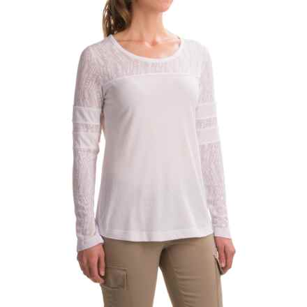 prAna Cleo Shirt - Long Sleeve (For Women) in White - Closeouts