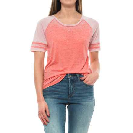prAna Cleo T-Shirt - Short Sleeve (For Women) in Summer Peach - Closeouts