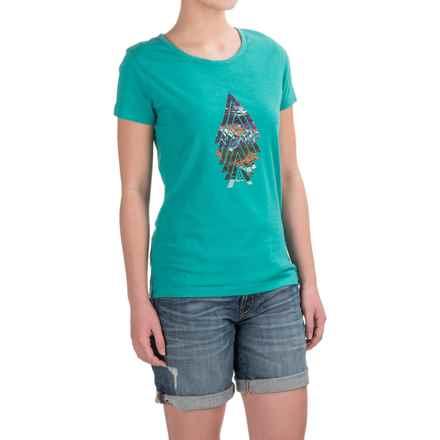 prAna Climbing T-Shirt - Organic Cotton Blend, Short Sleeve (For Women) in Baltic Northbound - Closeouts