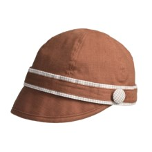 prAna Clover Cadet Cap - Gingham Print Trim (For Women) in Burnt Orange - Closeouts