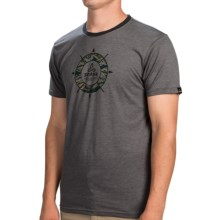 prAna Compass T-Shirt - Organic Cotton, Short Sleeve (For Men) in Charcoal - Closeouts