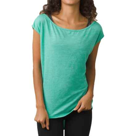 prAna Constance Shirt - Organic Cotton, Short Sleeve (For Women) in Aquamarine - Closeouts