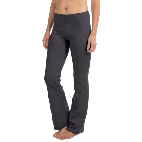 prAna Contour Yoga Pants - Tall Inseam (For Women) in Charcoal Heather