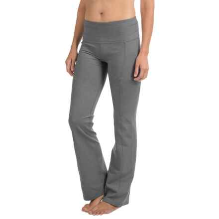 prAna Contour Yoga Pants - Tall Inseam (For Women) in Heather Grey - Closeouts