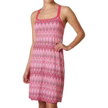prAna Cora Tank Dress - Built-In Bra, Racerback (For Women) in Azalea Feather - Closeouts