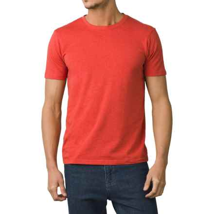 prAna Crew T-Shirt - Short Sleeve (For Men) in Orange Crush - Closeouts
