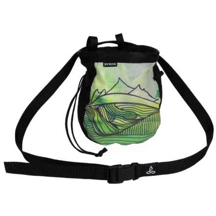 "prAna Custom Chalk Bag with Belt - 7x6x2.5"" in Green - Closeouts"