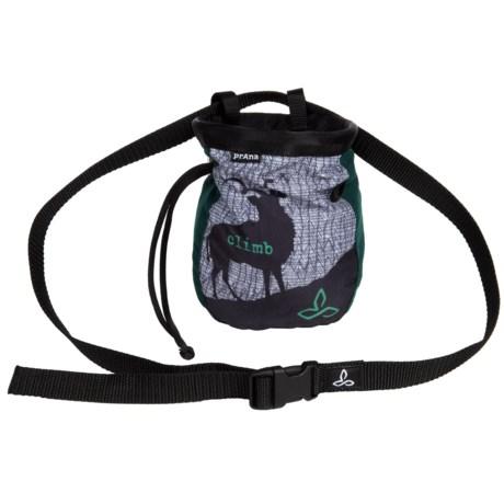 "prAna Custom Chalk Bag with Belt - 7x6x2.5"" in Pineneedle"