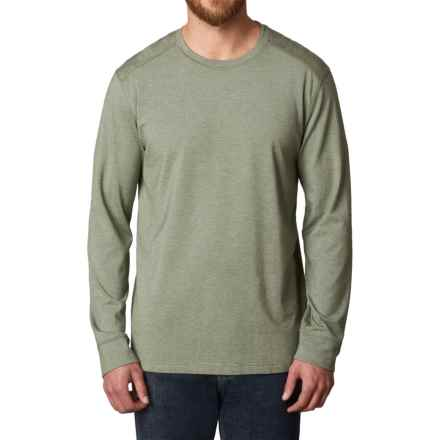 prAna Decco Crew Shirt - Organic Cotton-Modal, Long Sleeve (For Men) in Cargo Green - Closeouts