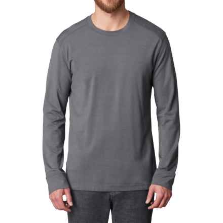 prAna Decco Crew Shirt - Organic Cotton-Modal, Long Sleeve (For Men) in Charcoal - Closeouts