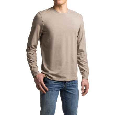 prAna Decco Crew Shirt - Organic Cotton-Modal, Long Sleeve (For Men) in Mud - Closeouts