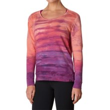prAna Deelite Sweatshirt - Open Back (For Women) in Light Red Violet - Closeouts