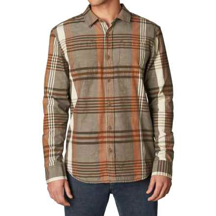 prAna Delaney Flannel Shirt - Organic Cotton, Long Sleeve (For Men) in Brown - Closeouts