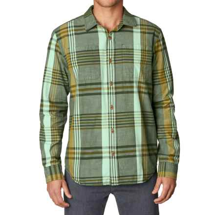 prAna Delaney Flannel Shirt - Organic Cotton, Long Sleeve (For Men) in Dark Olive - Closeouts