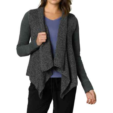 prAna Demure Cardigan Sweater - Organic Cotton Blend, Long Sleeve (For Women) in Charcoal - Closeouts