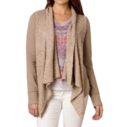 prAna Demure Cardigan Sweater - Organic Cotton Blend, Long Sleeve (For Women) in Dark Khaki - Closeouts