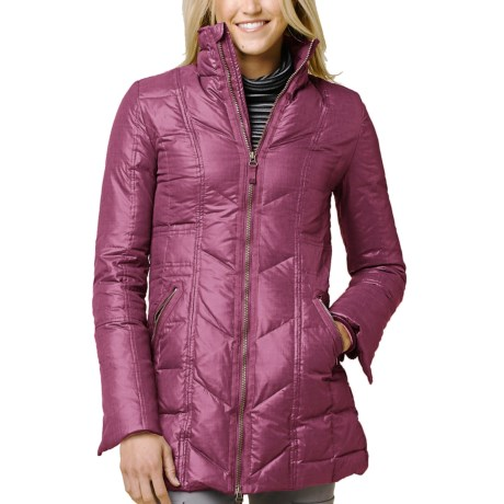 prAna Devan Down Jacket - 750 Fill Power (For Women) in Plum Red