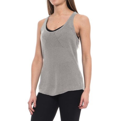prAna Devi Sweater Tank Top - Hemp-Organic Cotton (For Women) in Silver