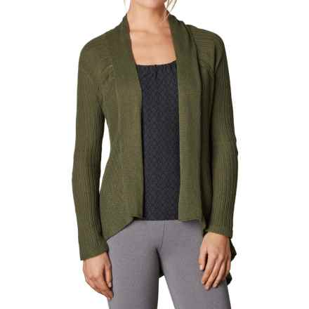 prAna Diamond Cardigan Sweater - Hemp-Organic Cotton (For Women) in Cargo Green - Closeouts
