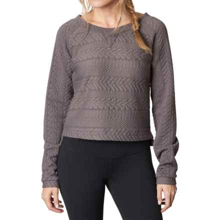 prAna Dimension Crop Top - Long Sleeve (For Women) in Muted Truffle - Closeouts